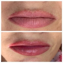Cosmetic Tattoo Full Lip Tattoo on Lucy by Rachael Bebe